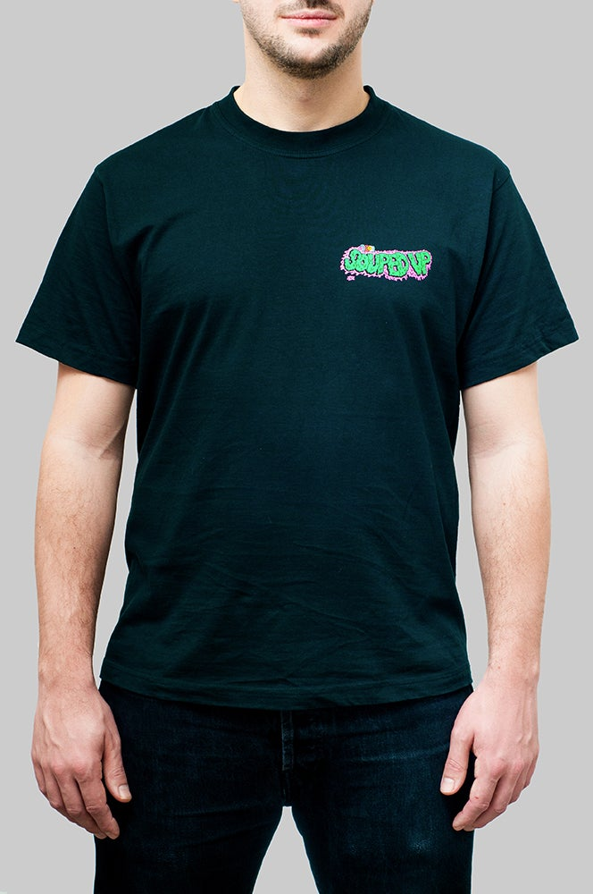 Image of Souped Up Records t-shirt (black)