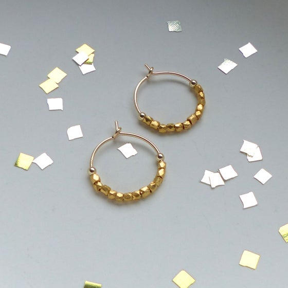 Image of Petite 12 Fair Trade Beads Hoops