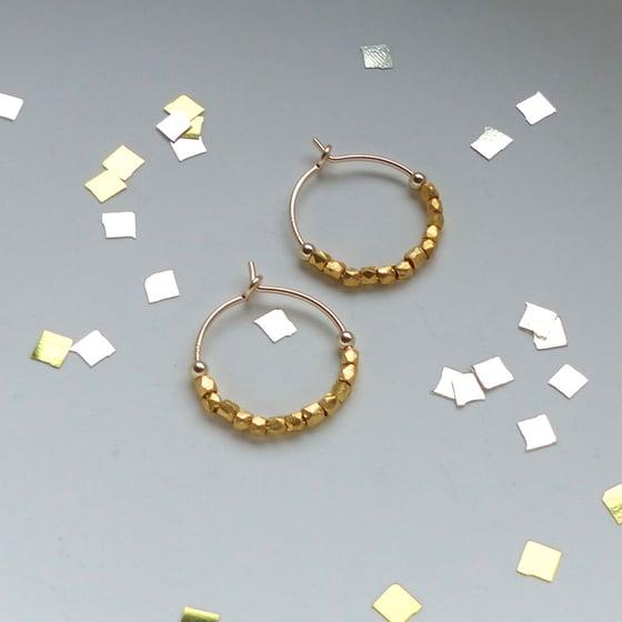 Image of Petite 12 Fair Trade Beads Hoops
