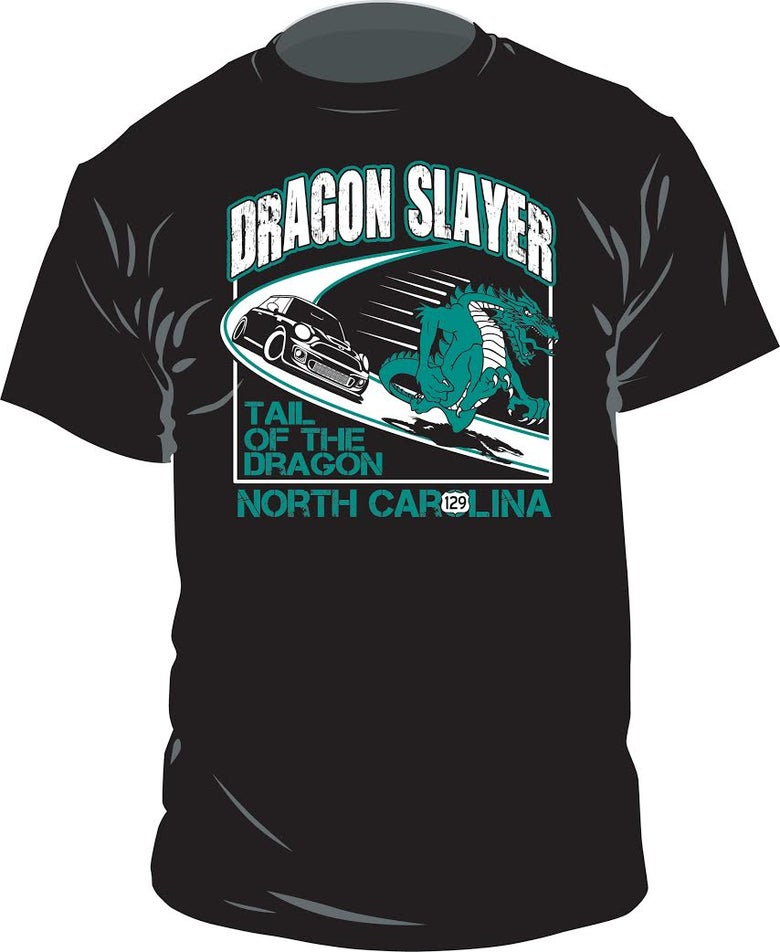 Image of DRAGON SLAYER ADULT CUT TEE SHIRT
