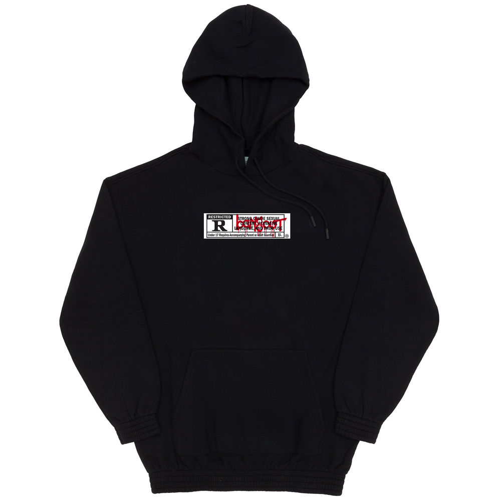 Image of RESTRICTED GANGBANGER /17+ HOODIE