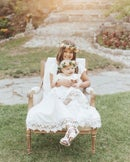 Image 1 of Girls White Special Day Twirly Dress