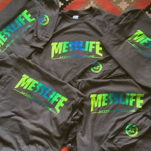 Image of MESSLIFE longsleeve yellow/green/blue fade