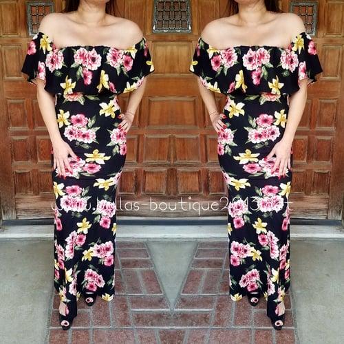Image of Allison Long Flower Dress
