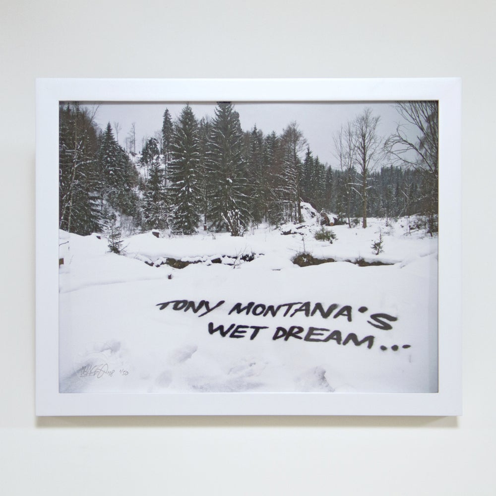 Image of 'Tony Montana's Wet Dream' - Framed Print