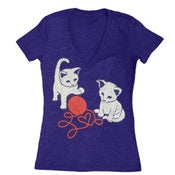 Image of Kittens Tee - Womens Fitted VNeck