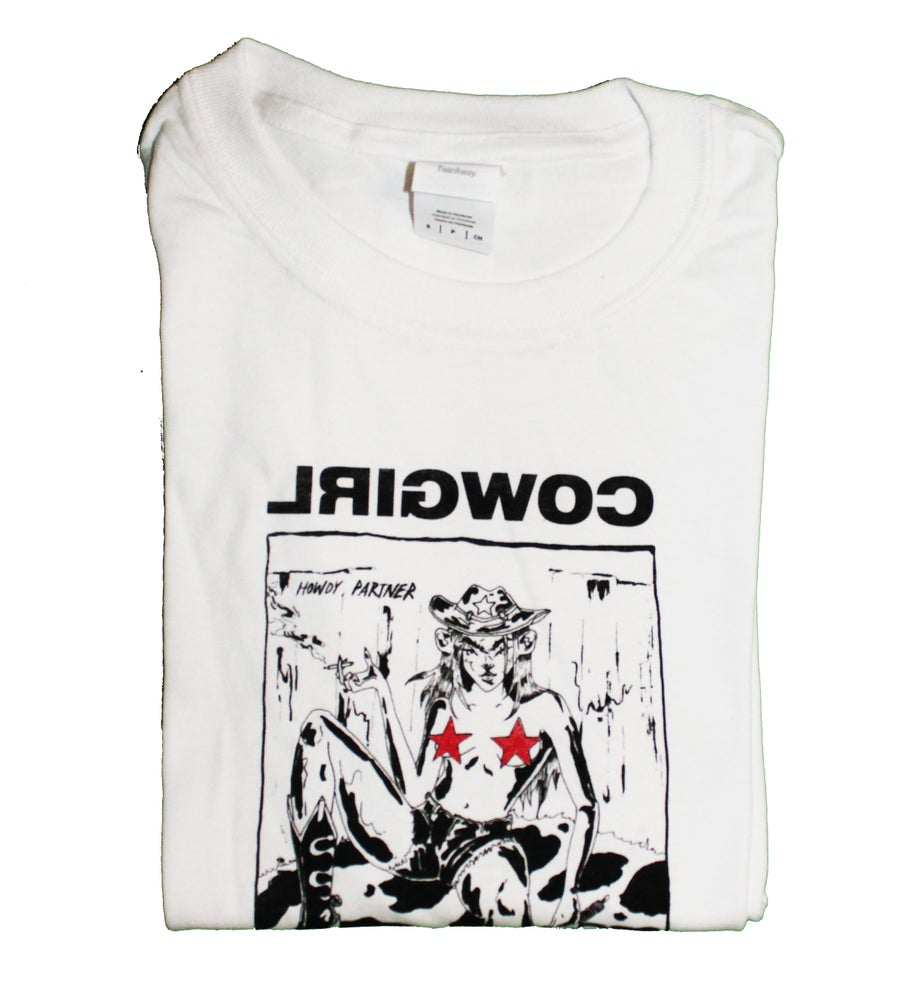 Image of REVERSE COWGIRL TEE PRE ORDER