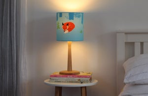 Image of Fox screen printed lampshade