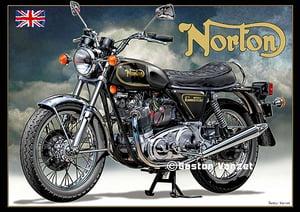 Image of 1974_Norton_Commando_Black_motorcycle_poster