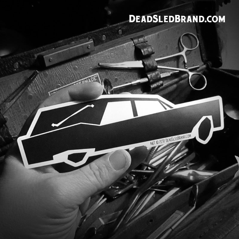Image of Stylized Hearse 7-Inch Die-Cut Sticker