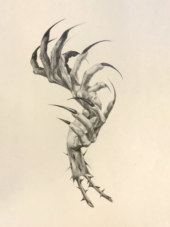 Image of Mano Oscura original graphite drawing