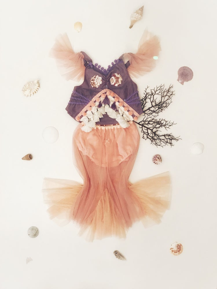Image of mermaid crops | purple