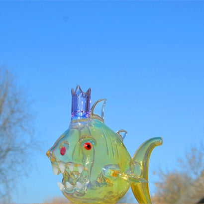 Image of Fumed Shark Rig with SOL perc 14.5mm Joint
