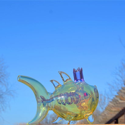 Image of Fumed Double Wall Shark Rig 14.5mm Joint