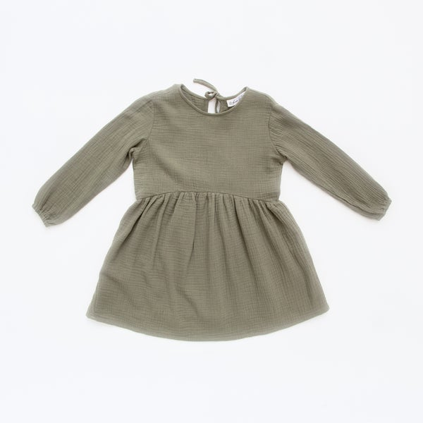 Image of Piper Long- Sleeve Gather Dress