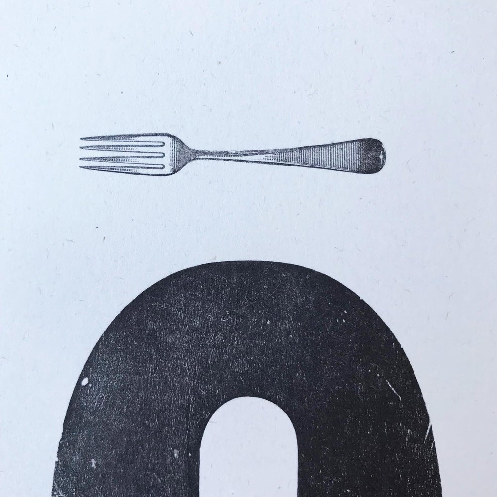 "Image of ""Fork Q"" print by Hooksmith Press"