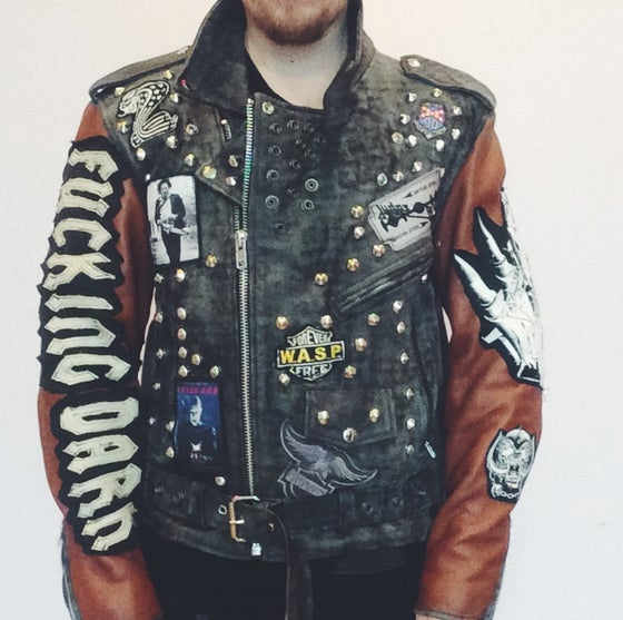 Image of Zombie leather jacket