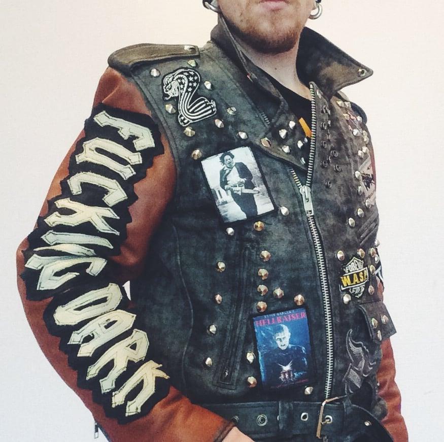 Image of Zombie leather jacket