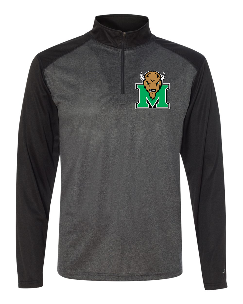Image of Marshall Pro Heather Quarter-Zip Pullover