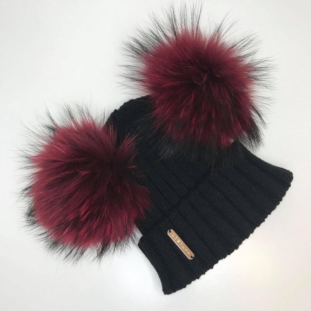 Image of Black Double Pomskii Hat