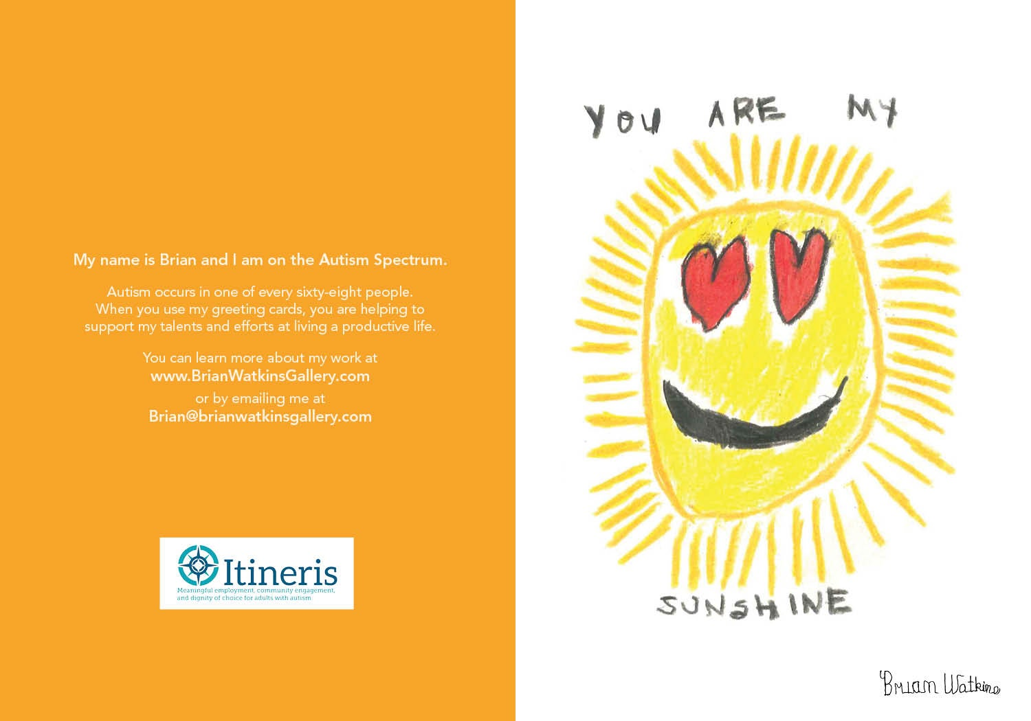 Image of You Are my Sunshine - Thank you