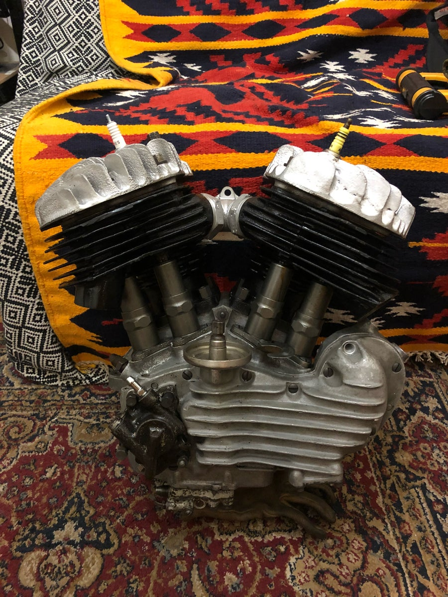 Image of Harley Davidson 45 flathead engine