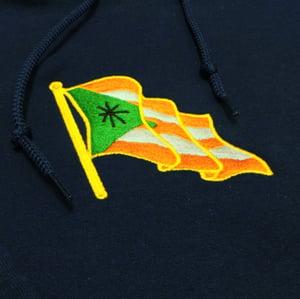 Image of Navy Wiki Flag Hoodie