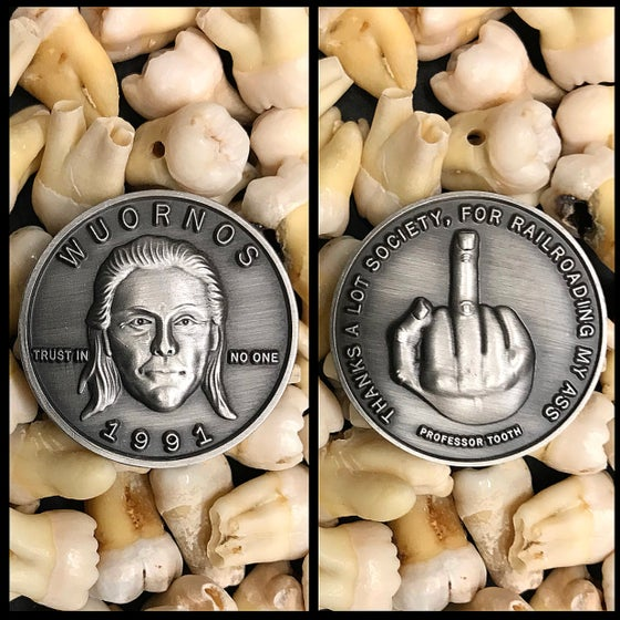 Image of Serial Killer Aileen Wuornos Coin