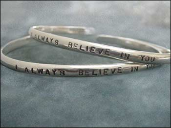 "Image of ""I Always Believe in You"" Sterling Bracelet"