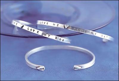 "Image of ""Love Me Love My Cat"" Sterling Bracelet"
