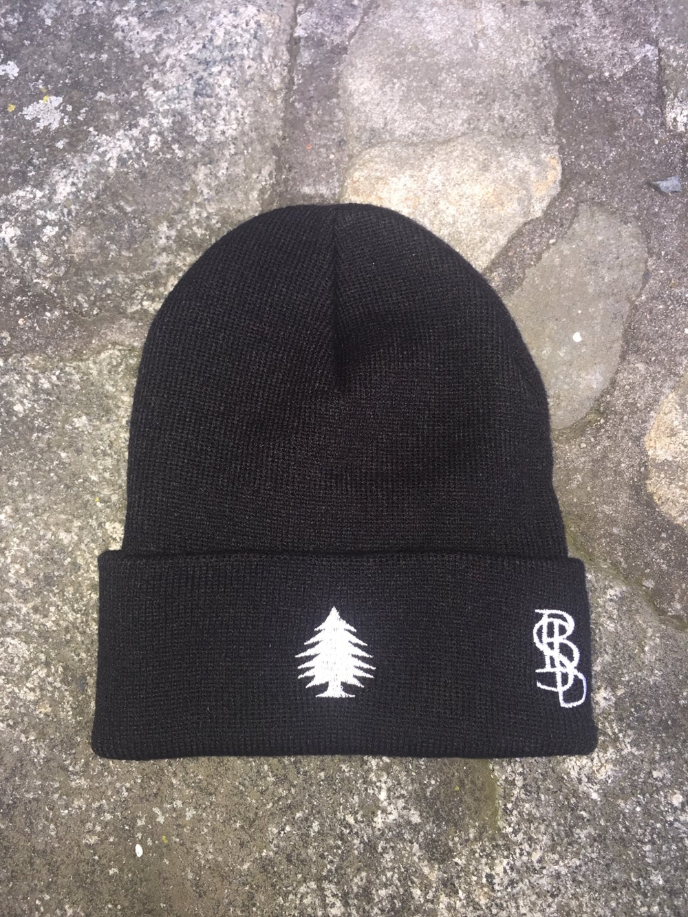 """Image of """"Blackout!"""" Pine Beanie"""