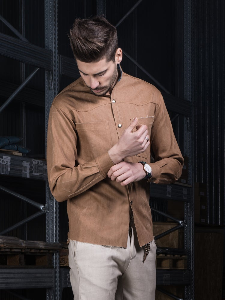 Image of DENIM SHIRT BROWN DENIM CAM01M