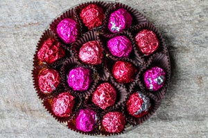 Image of Rosé Wine infused Dark Chocolate Truffles - 16 piece