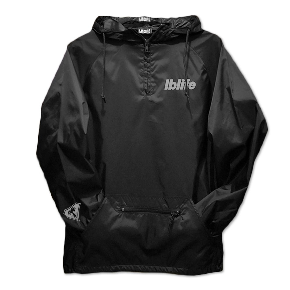 Image of LOWERCASE HIT BLACK PULLOVER WINDBREAKER