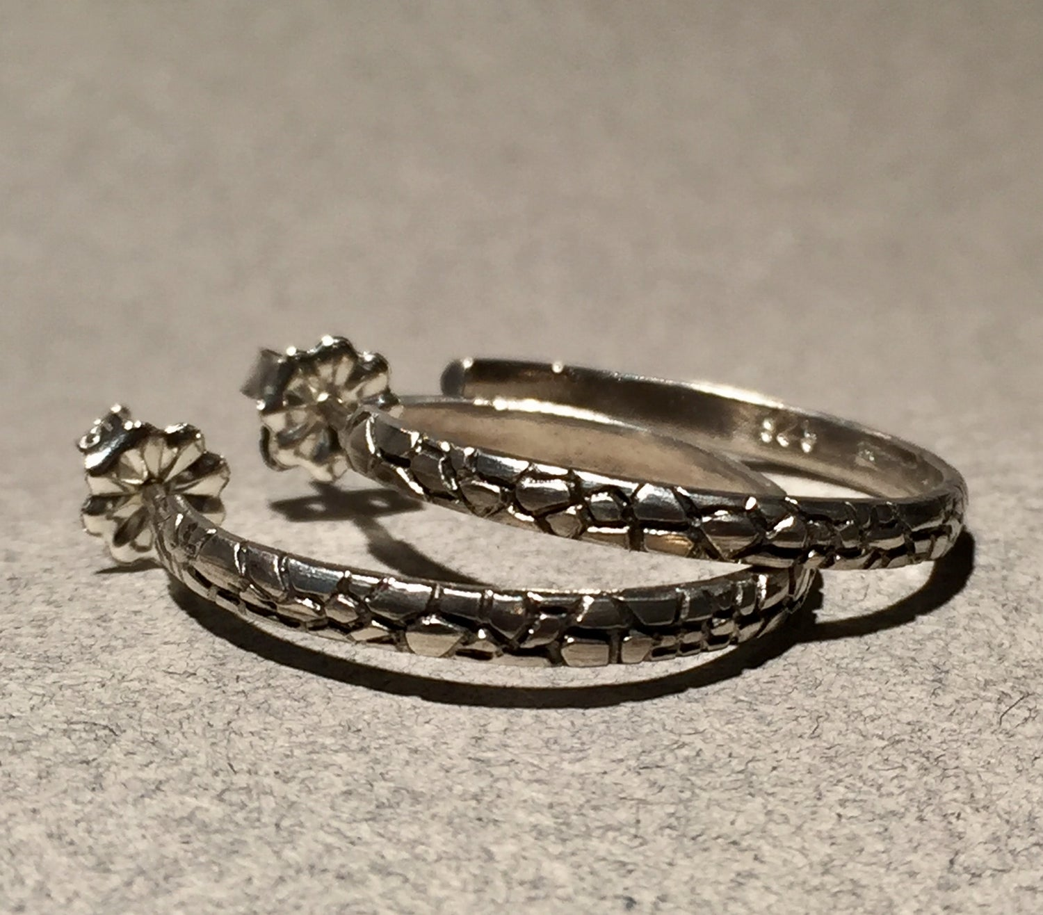Image of Textured Hoop Earrings