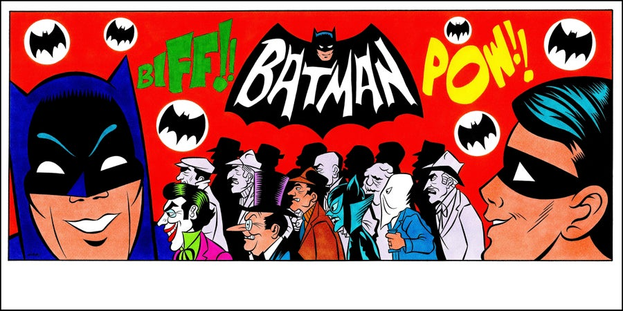 Image of BATMAN TV SERIES OPENING TRIBUTE PRINT - 8.5x17!