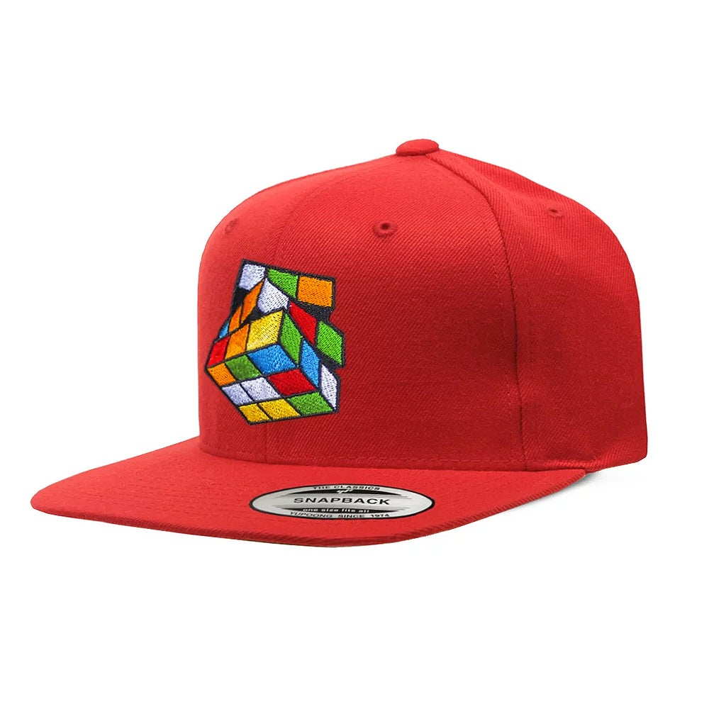 Image of Red Rubik's Snapback