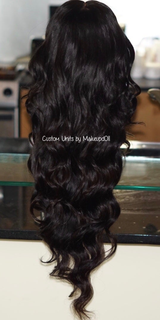 "Image of Indian Natural Wave 28"" Custom Lace Frontal Wig"