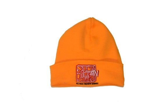 Image of ORANGE CIRCUITBOARD BEANIE