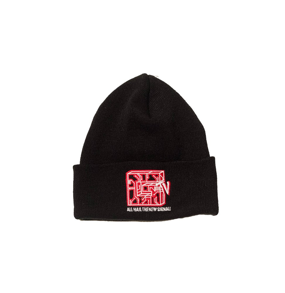 Image of BLACK CIRCUIT BEANIE