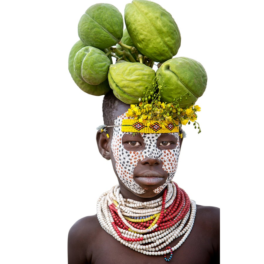 Image of PHOTOGRAPH - GREEN PODS - YOUNG KARA BOY