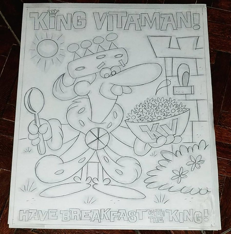 Image of KING VITAMAN 11x14 PENCIL SKETCH