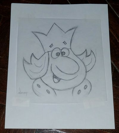 Image of BURGER KING 8.5x11 PENCIL SKETCH
