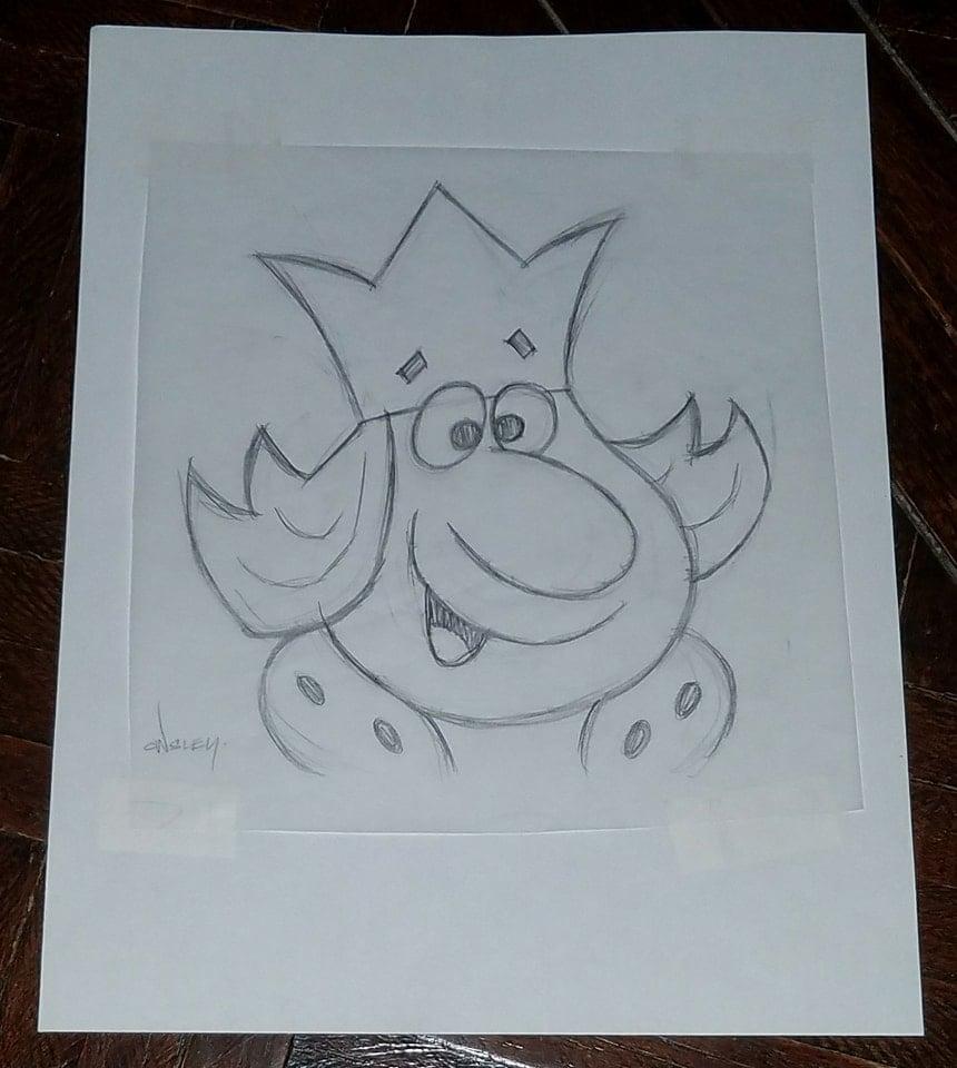 Image of BURGER KING 8.5x11 PENCIL SKETCH