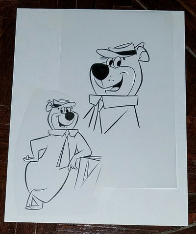 Image of YOGI BEAR 8.5x11 ORIGINAL ART