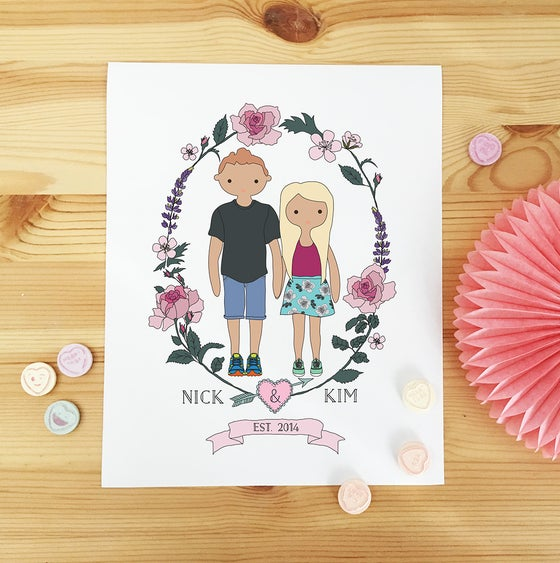 Image of Personalised Couple Illustration