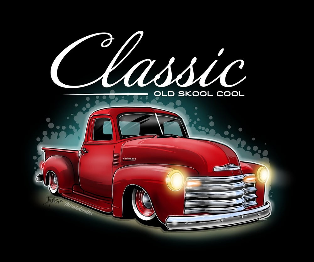 Image of Classic Ol Skool First Series Pickup Red