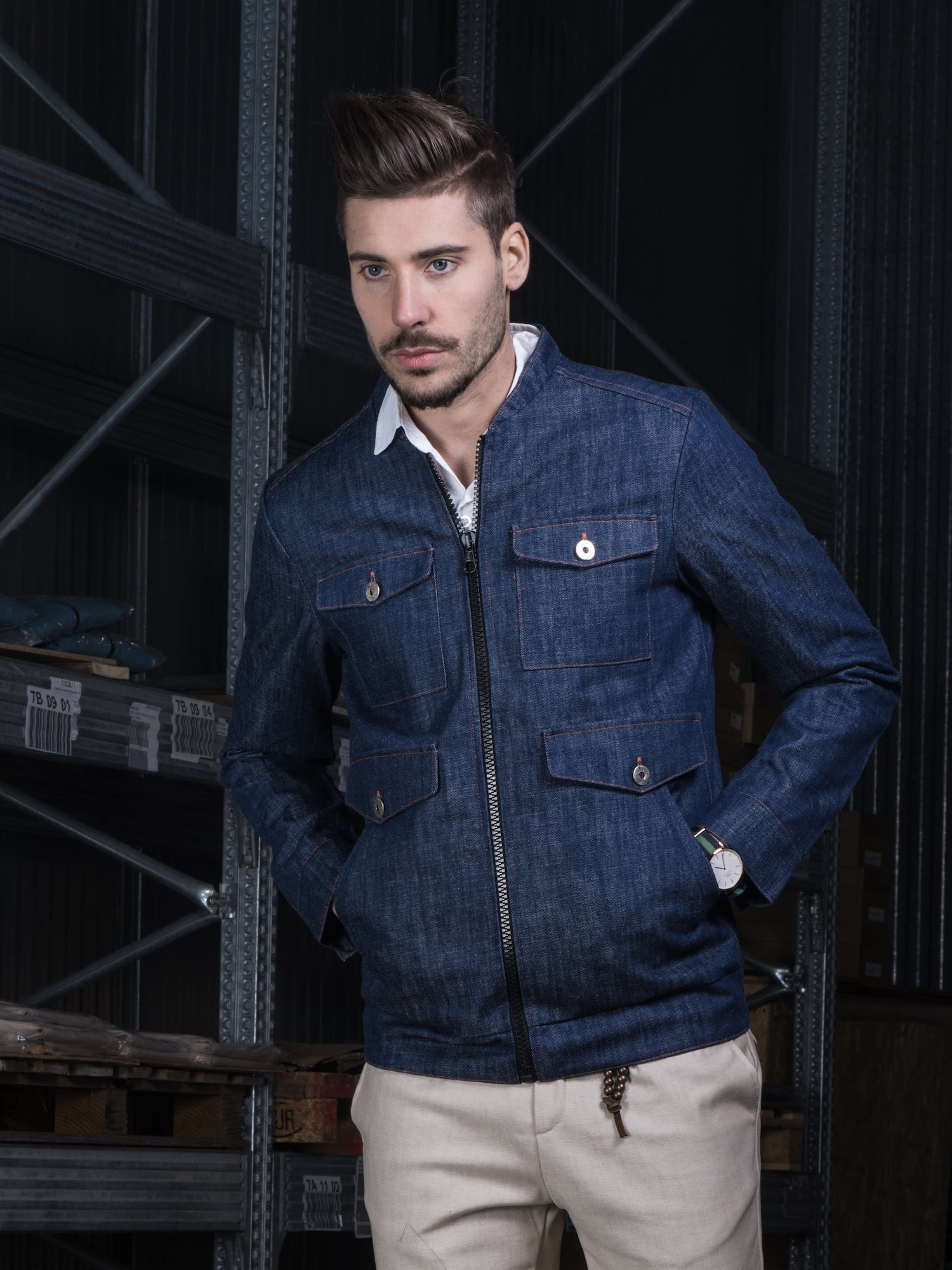 Image of Denim Jacket 6 pockets R88BI