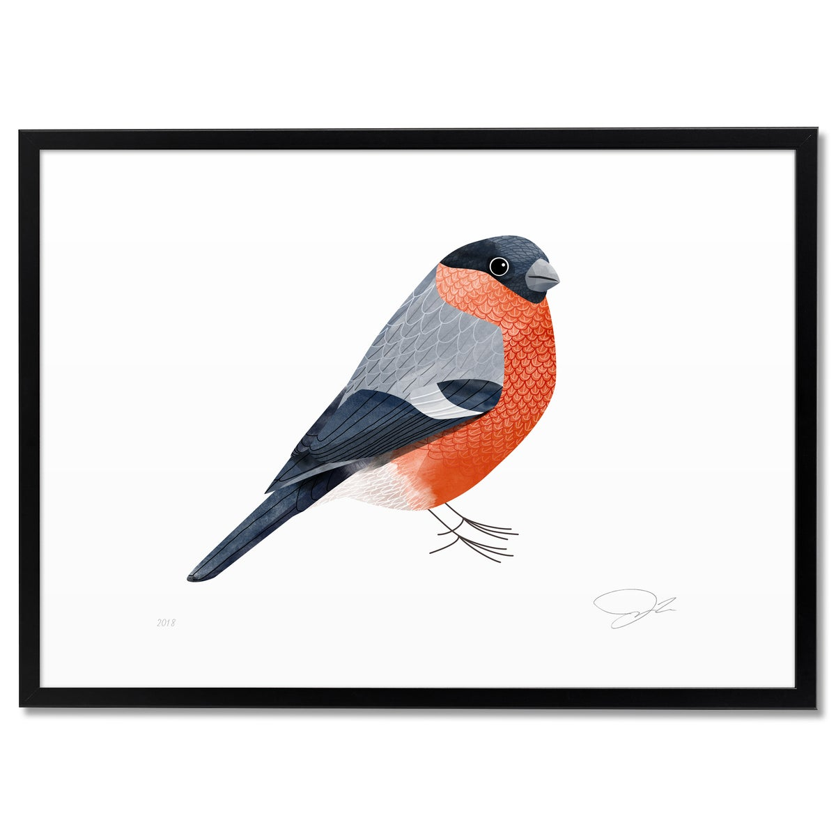 Image of Print: Bullfinch
