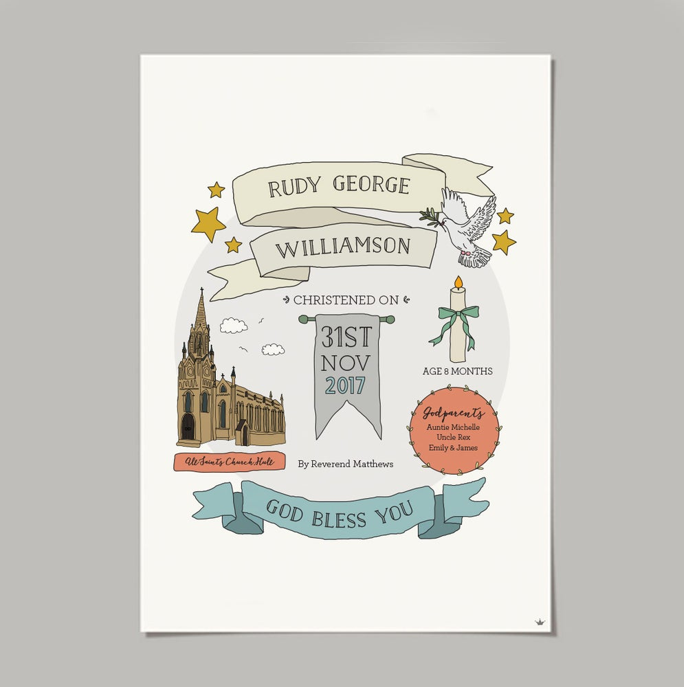 Image of Personalised Christening Print